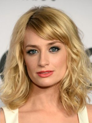 Beth Behrs Amazing Synthetic Lace Front Wavy Wig