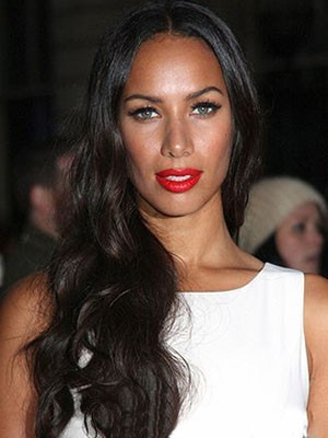 Leona Lewis Popular Lace Front Wavy Synthetic Wig