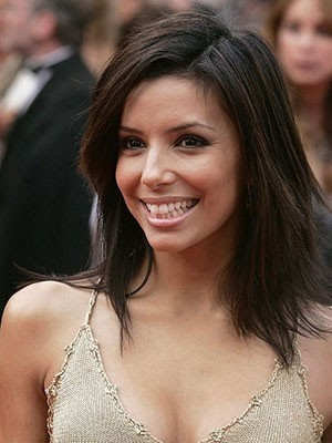 Eva Longoria Classic Lace Front Straight Human Hair Wig