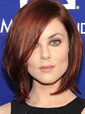 Anna Nalick Elaborately Lace Front Synthetic Straight Wig