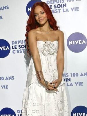 Rihanna Stylish Long Wavy Celebrity Wig
