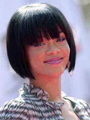 Rihanna Hairstyle Full Lace Celebrity Wig