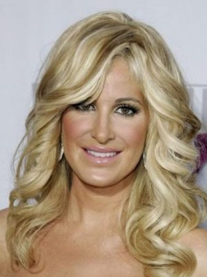 Kim Zolciak Fabulous Wavy Lace Front Synthetic Wig