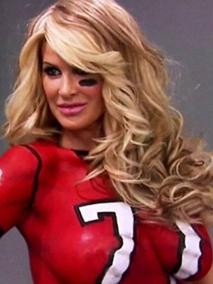 Kim Zolciak Stunning Wavy Lace Front Synthetic Wig
