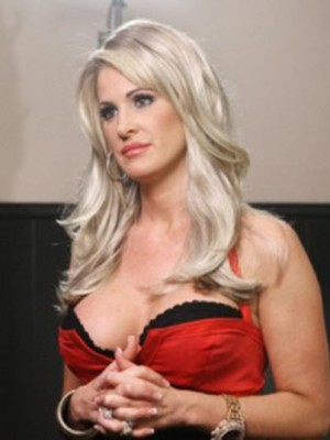Kim Zolciak Elegant Synthetic Straight Lace Front Wig