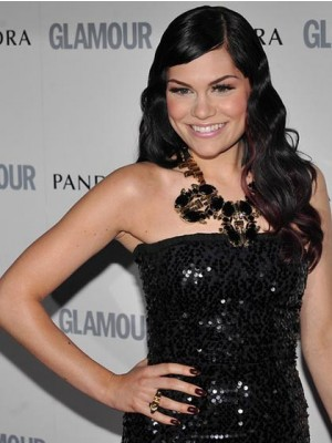 Jessie J Long Wavy Lace Front Celebrity Wig