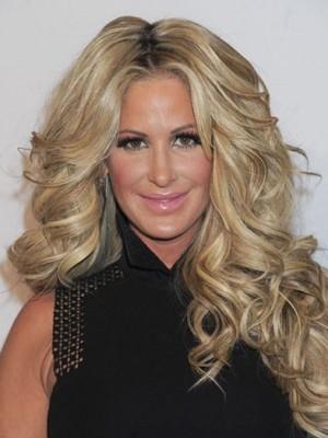 Kim Zolciak Pleasant Wavy Lace Front Human Hair Wig
