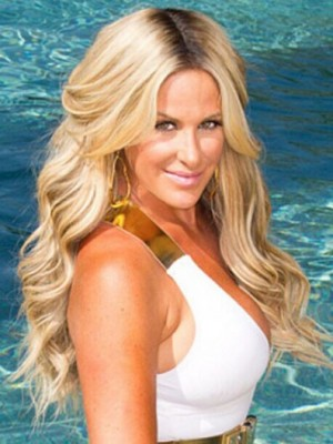 Kim Zolciak Marvelous Wavy Lace Front Synthetic Wig
