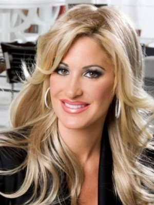 Kim Zolciak Magnificent Straight Lace Front Human Hair Wig