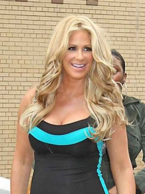 Kim Zolciak Affordable Wavy Human Hair Lace Front Wig