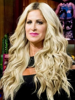 Kim Zolciak Gorgeous Wavy Synthetic Lace Front Wig