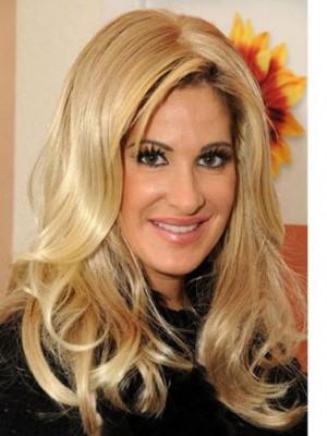 Kim Zolciak Glamorous Wavy Human Hair Lace Front Wig