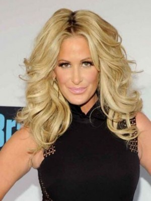 Kim Zolciak Durable Wavy Full Lace Human Hair Wig