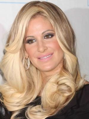 Kim Zolciak Charming Wavy Lace Front Mono Top Synthetic Wig