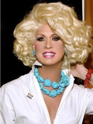 Kim Zolciak Shimmering Wavy Capless Synthetic Wig