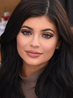 Kylie Jenner Dazzling Lace Front Straight Human Hair Wig