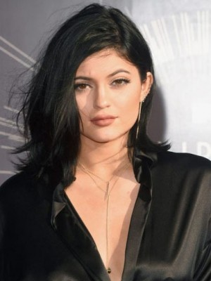 Kylie Jenner Concise Straight Human Hair Lace Front Wig