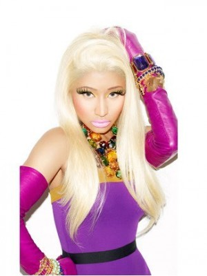 Nicki Minaj's Long Straight Human Hair Celebrity Wig