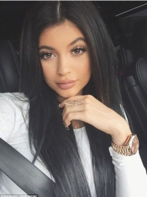 Kylie Jenner Impressive Straight Lace Front Human Hair Wig