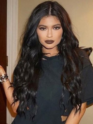 Kylie Jenner Fabulous Wavy Lace Front Human Hair Wig