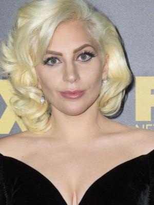 Lady Gaga Seductive Lace Front Human Hair Wavy Wig