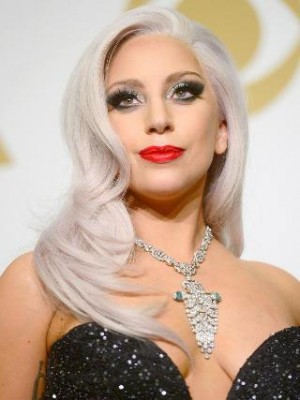Lady Gaga Glamorous Synthetic Wavy Lace Front Wig