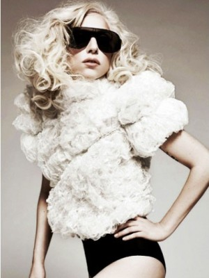 Lady Gaga Durable Synthetic Wavy Lace Front Wig