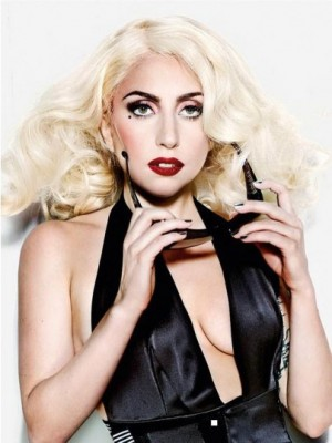 Lady Gaga Dazzling Synthetic Wavy Lace Front Wig