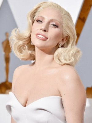Lady Gaga Wavy Lace Front Synthetic Wig