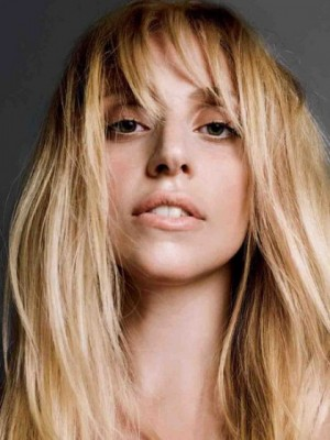 Lady Gaga Top Quality Human Hair Straight Capless Wig