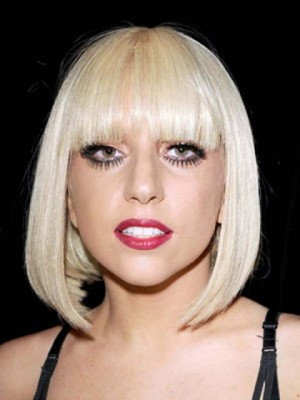 Lady Gaga New Style Synthetic Straight Capless Wig