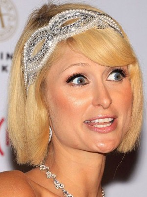Paris Hilton Modern Lace Front Straight Synthetic Wig