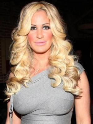 Kim Zolciak Human Hair Lace Front Wavy Celebrity Wig