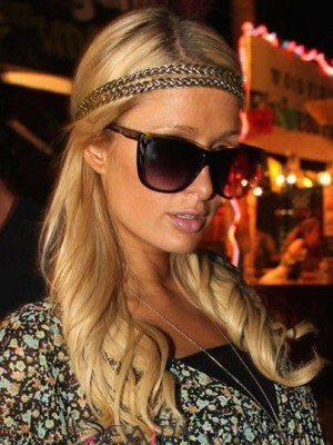 Paris Hilton Shimmering Synthetic Wavy Lace Front Wig