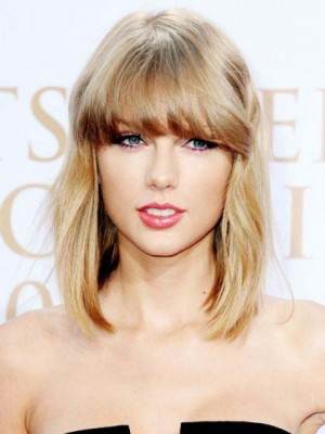 Taylor Swift New Style Straight Capless Human Hair Wig