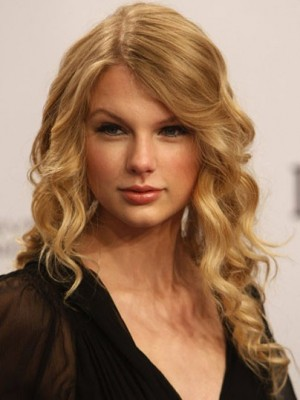Taylor Swift Stunning Wavy Lace Front Synthetic Wig