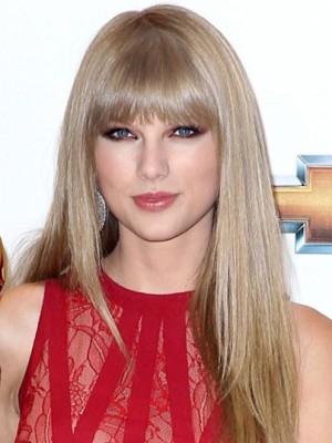 Taylor Swift Elegant Straight Capless Human Hair Wig
