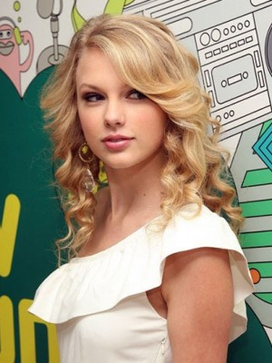 Taylor Swift Marvelous Wavy Lace Front Human Hair Wig