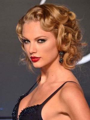 Taylor Swift Nice-looking Wavy Lace Front Human Hair Wig