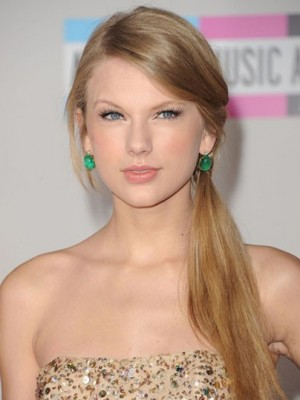Taylor Swift Pleasant Straight Lace Front Human Hair Wig