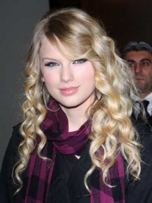 Taylor Swift Attractive Wavy Lace Front Synthetic Wig