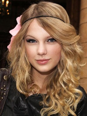 Taylor Swift Marvelous Capless Wavy Synthetic Wig