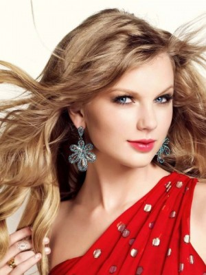 Taylor Swift Layered Wavy Lace Front Synthetic Wig