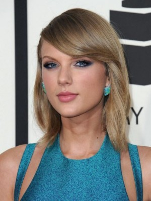 Taylor Swift Comfortable Straight Lace Front Synthetic Wig