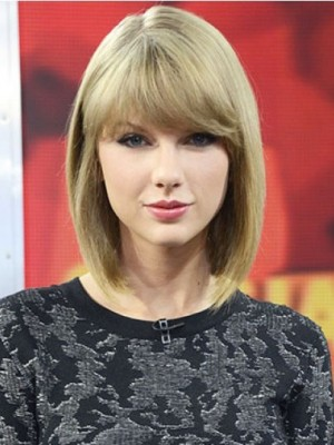 Taylor Swift Gorgeous Straight Capless Human Hair Wig