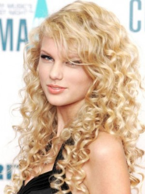 Taylor Swift Charming Wavy Lace Front Synthetic Wig