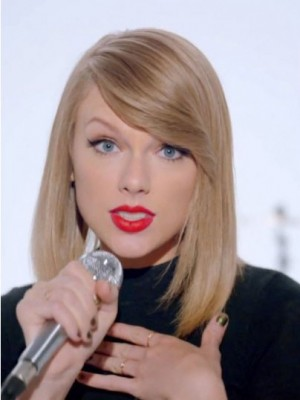 Taylor Swift Elaborately Straight Lace Front Human Hair Wig