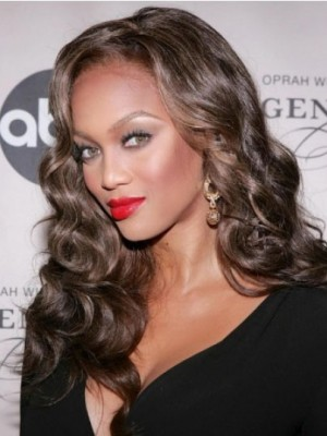Tyra Banks Fabulous Lace Front Wavy Synthetic Wig