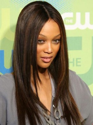Tyra Banks Stunning Straight Lace Front Human Hair Wig