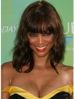 Tyra Banks Classic Wavy Capless Human Hair Wig